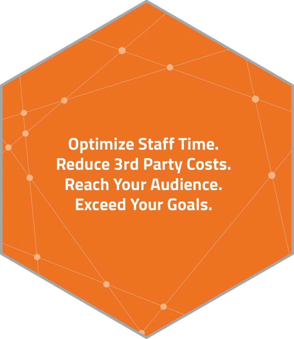 Optimize Staff Time. Reduce 3rd Party Costs. Reach Your Audience. Exceed Your Goals.